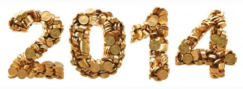 2014 gold coins - photo: Dim Dimich on Shutterstock.com