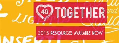 40acts Lent generosity campaign
