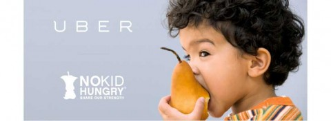Uber's NoKidHungry in-app donation campaign