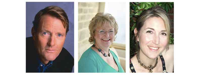 Lee Child, Katie Fforde, Lisa Jewell - authors supporting Clic Sargent's Get in Character auction 2015