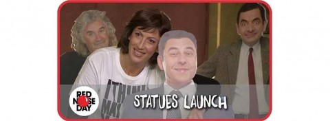 Red Nose Day statues 2015