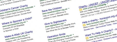 Sample charity google adwords