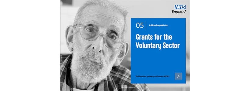 NHS England guide to grants for the voluntary sector