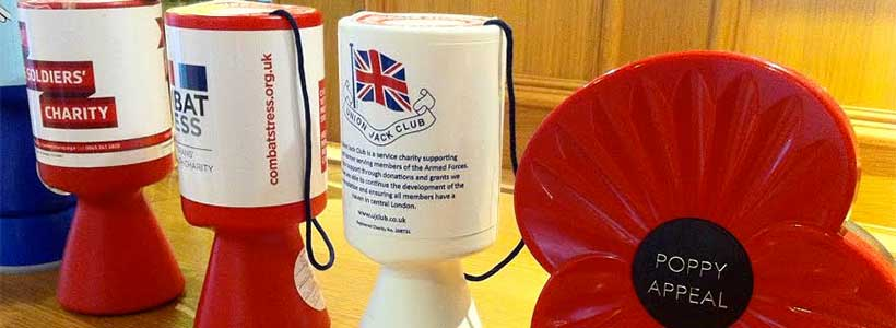 Service charity collecting boxes