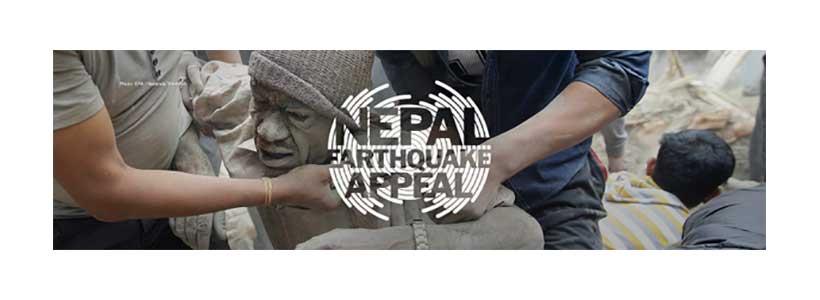DEC Nepal earthquake appeal logo: photo - EPA/Narenda Shrestha