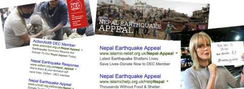 Nepal Earthquake Appeal Adverts
