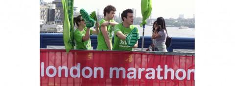 Oxfam supporters at Virgin Money London Marathon 2011 - David Burrows on Shutterstock.com