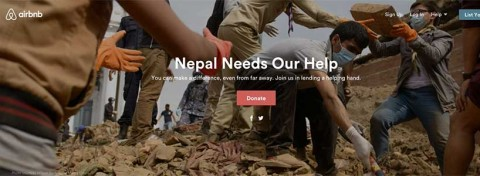 Airbnb's emergency appeal following Nepal earthquake, 2015
