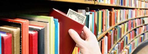 Library book shelf - photo: Connel on Shutterstock.com