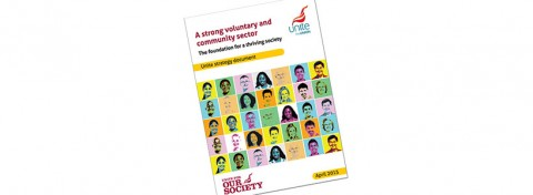 Unite - A Strong Voluntary and Community Sector (front cover)