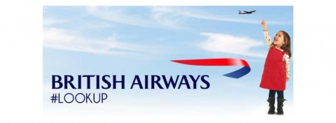 British Airways #Lookup advert