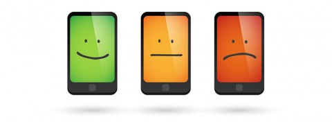 Happy sad mobile phones - Blablo101 on Shutterstock.com