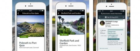 National Trust app screenshots