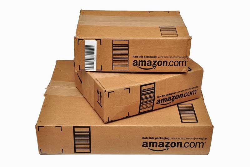 Amazon parcel boxes - Joe Ravi. Shutterstock.com