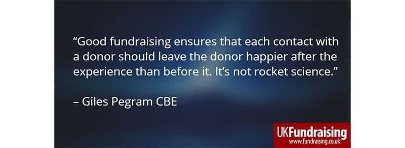 Giles Pegram on good fundraising