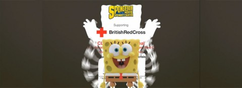 Spongebob and Movie and British Red Cross' Clean Start Appeal