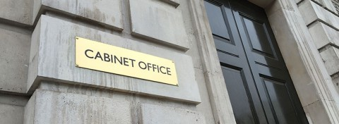 Cabinet Office sign - photo: Howard Lake