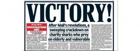 Daily Mail 'Victory!' front page 23 September 2015