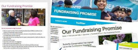 Three charities' Fundraising Promise