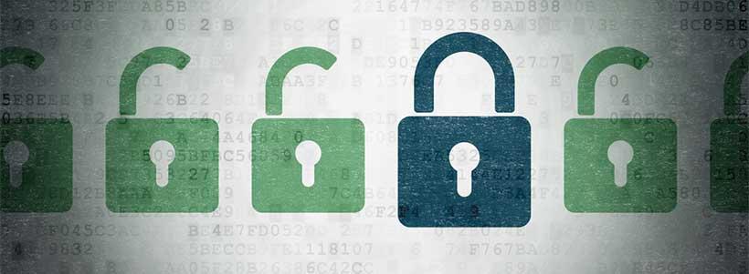 Privacy - data and information padlocks