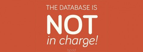 The database is not in charge! Beate Sorum