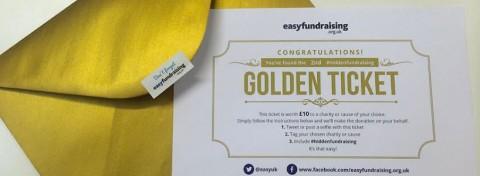 Easyfundraising's golden envelope