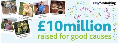 Easyfundraising raises £10m