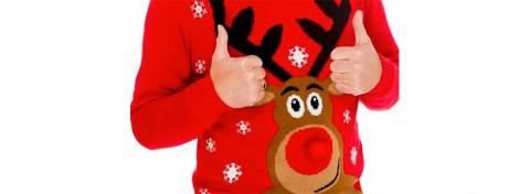 Text Santa Christmas jumper
