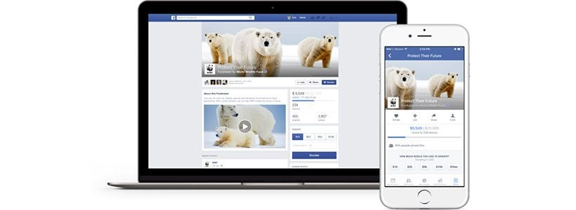 Facebook Fundraiser used by WWF USA