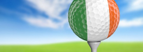Golf ball in Irish flag colours - David Carillet on Shutterstock.com