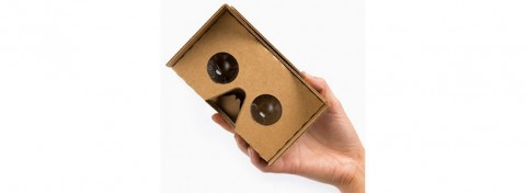 Google Cardboard, for viewing virtual reality