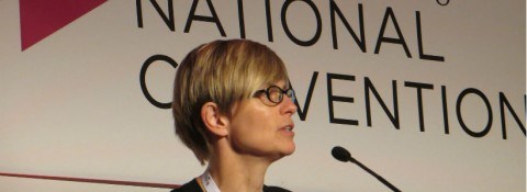 Liz Monks speaking at IoF Convention 2014
