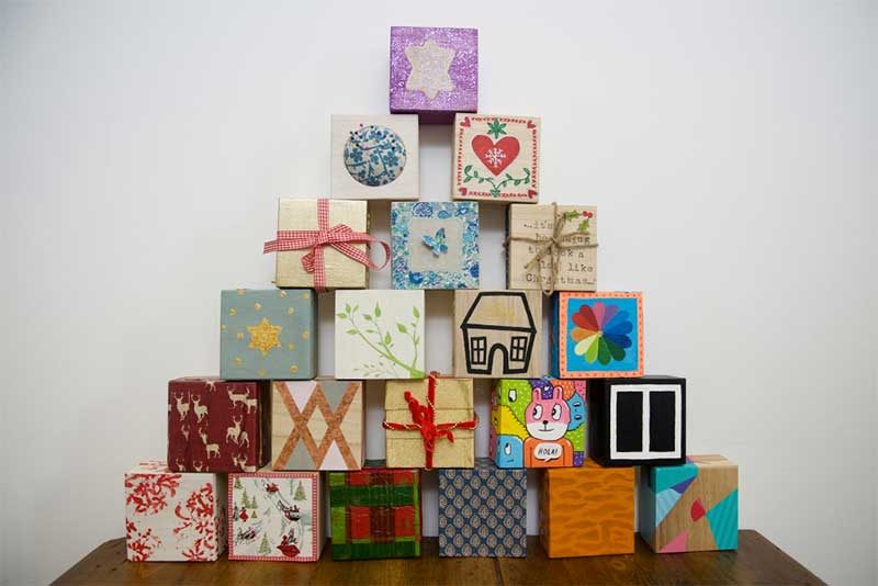 Hand-crafted boxes make up an unusual Advent Calendar in aid of Oxfam