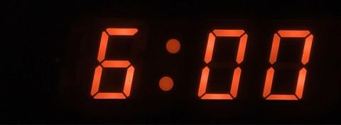 Six minutes countdown - photo: KtD on Shutterstock.com