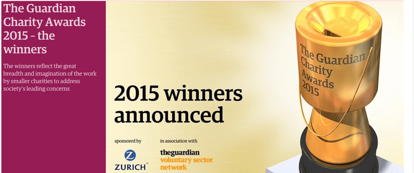 The Guardian Charity Awards 2015