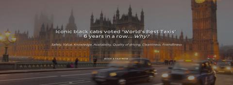 Iconic black cabs