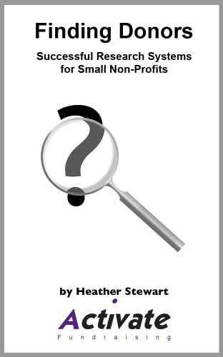 Finding donors Successful research systems for small non-profits