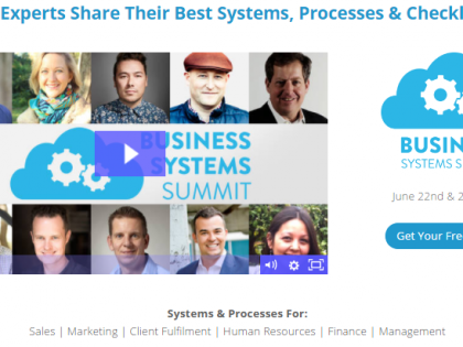 Business systems summit – Online training June 22nd 2017