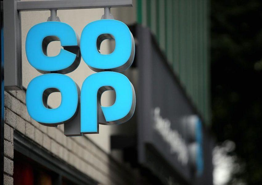 Co-op logo on a street sign