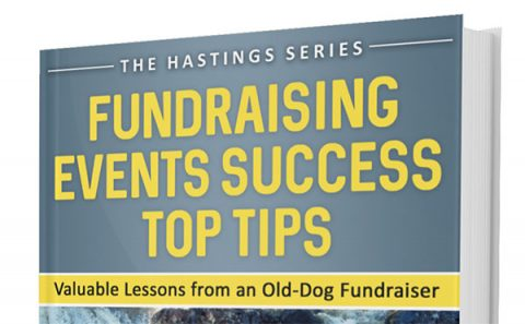 Fundraising Events Success - Top Tips, by Ewan Hastings (cover detail)