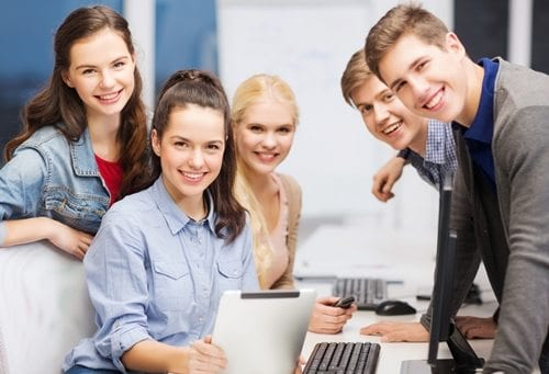Young people in an office