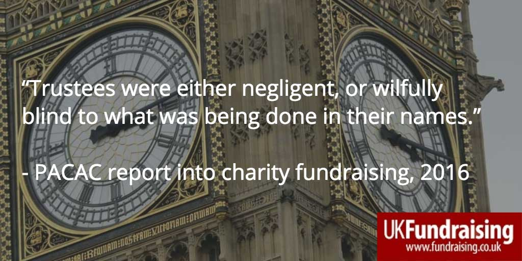 Quotation from PACAC report into charity fundraising