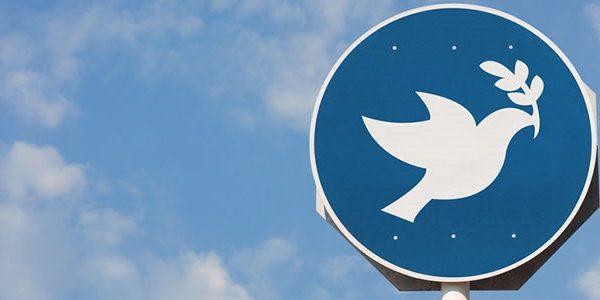 Dove of peace signpost - JoeManjiArts on Shutterstock.com