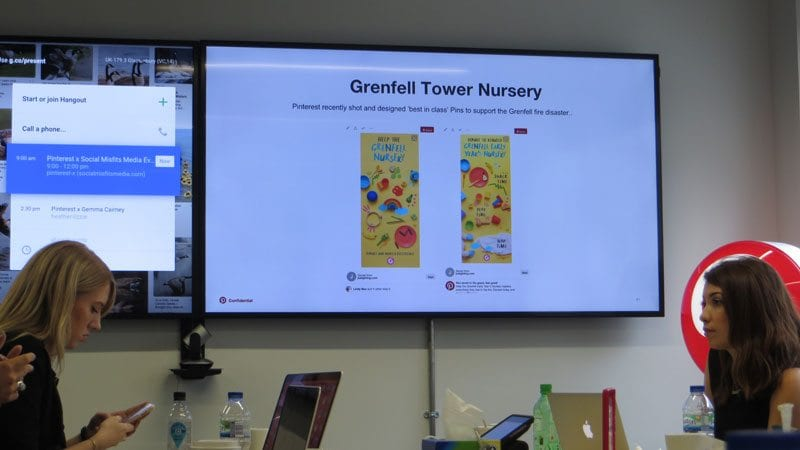 Grenfell Tower nursery pin supported by Pinterest UK