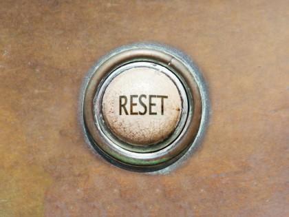 Let's push our own re-set button