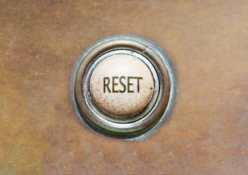 Reset button by MyImages Micha on Shutterstock.com
