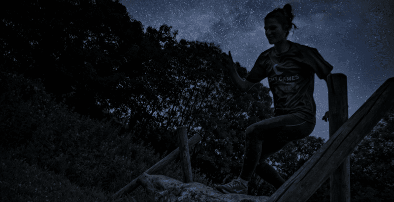 Nighttime obstacle race