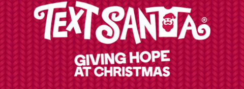 text santa giving hope at christmas