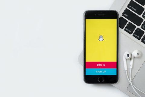 Snapchat opening screen