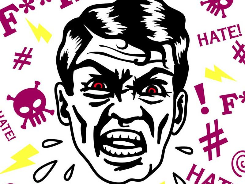 Swearing cartoon man - image: Durantelallera on Shutterstock.com
